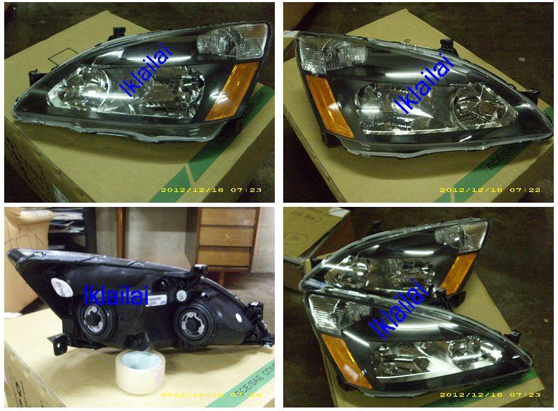 DEPO Honda Accord `03-07 STA Head Lamp Crystal Black [HD05-HL01-U]