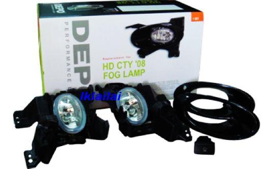 DEPO Honda City `09 Fog Lamp Crystal W/ Wiring+Switch [HD35-FL03-U]