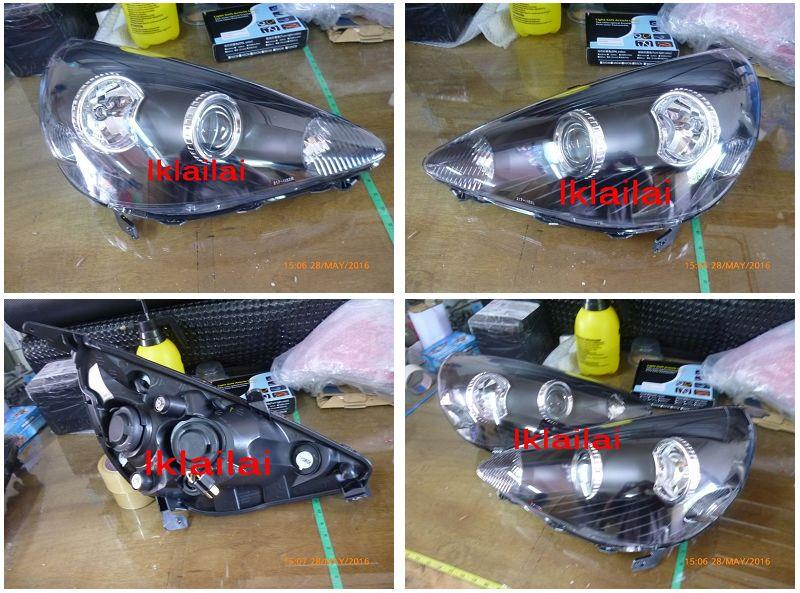 DEPO Honda Jazz/Fit '02-07 SAA Crystal Projector Head Lamp
