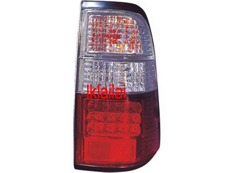 DEPO Isuzu Invader `97-01 Tail Lamp Crystal LED Clear/Red