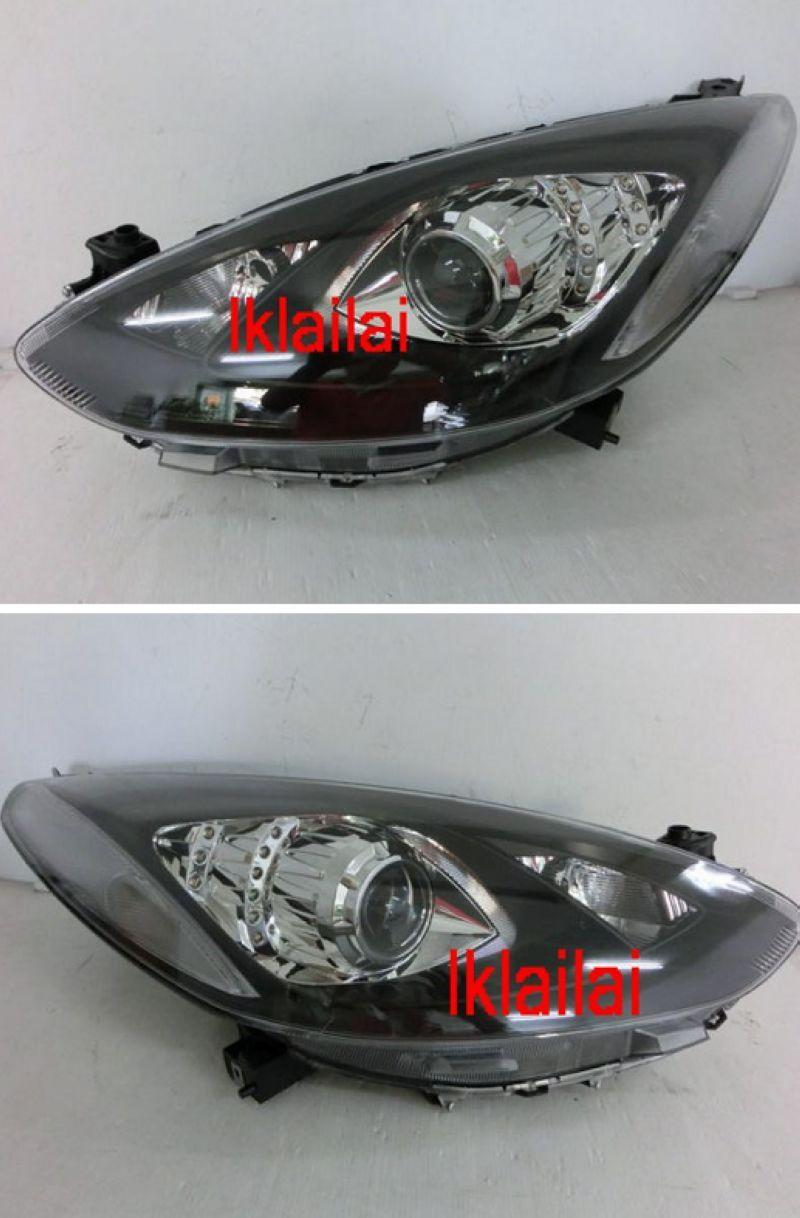 DEPO MAZDA 2 08-13 Projector Head Lamp LED DRL