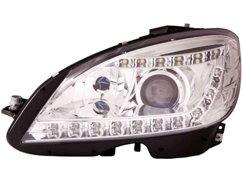 DEPO Mercedes Benz W204 '07 Head Lamp Projector LED DRL R8 + Motor