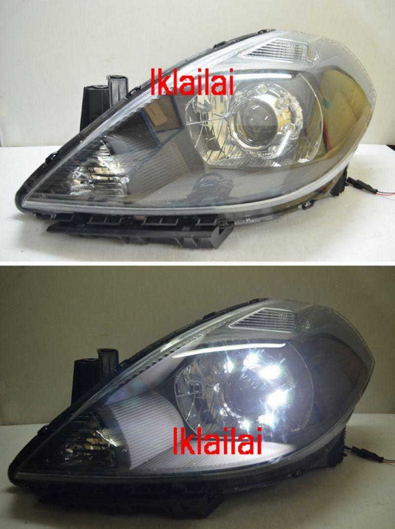 DEPO NISSAN LATIO / Tiida '07-09 Projector Head Lamp with LED