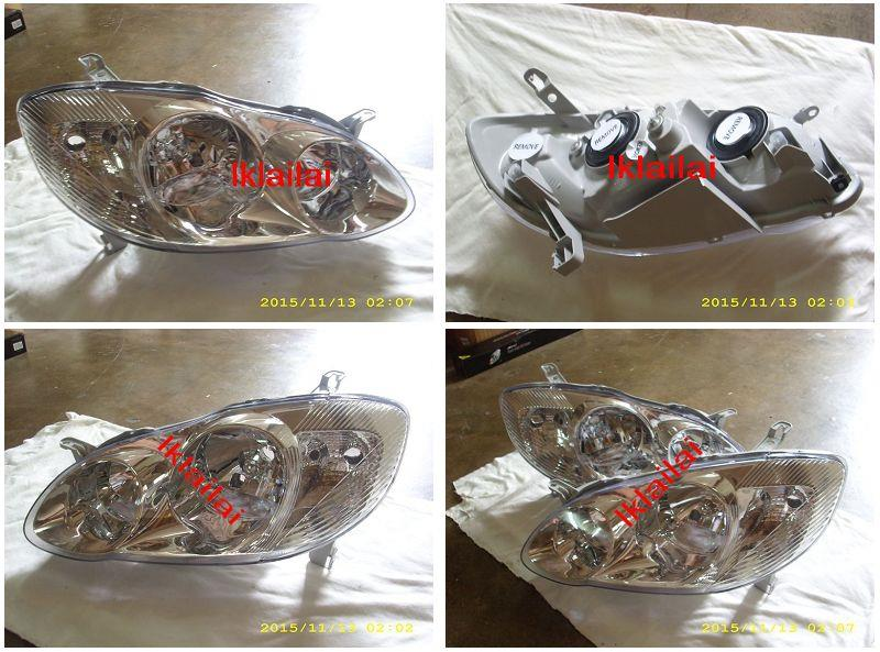 DEPO Toyota Altis '01-06 Crystal Head Lamp [Chrome] Price Per Pair