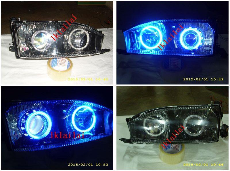 DEPO Toyota Camry '92-95 Projector BLUE CCFL Head Lamp Set
