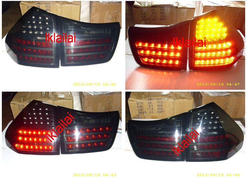 DEPO Toyota Harrier RX330 `03-08 MCU30 Tail Lamp Crystal LED Black