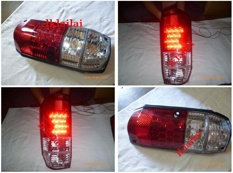 DEPO Toyota Landcruiser '93-97 LT79/RJ77 Tail Lamp Crystal LED Red/Cle