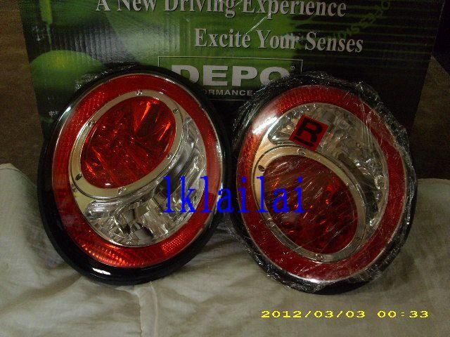 DEPO Volkswagen 98 Beetle Tail Lamp Crystal LED Red/Clear
