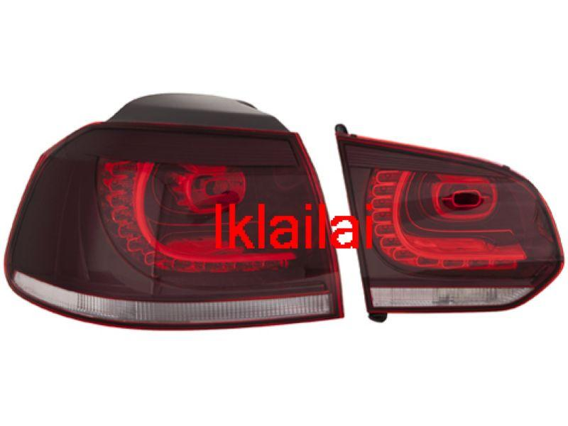 DEPO Volkswagen Golf `08 VI R Style Tail Lamp Crystal LED Red/Clear