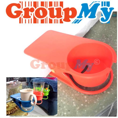 New Design Table Desk Cup Holder Clip With Handle Cut Out Big Size