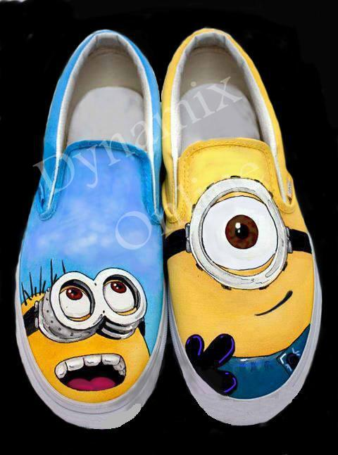 Despicable Me 2 - Minion Custom Hand-Painted Shoes (Adult)