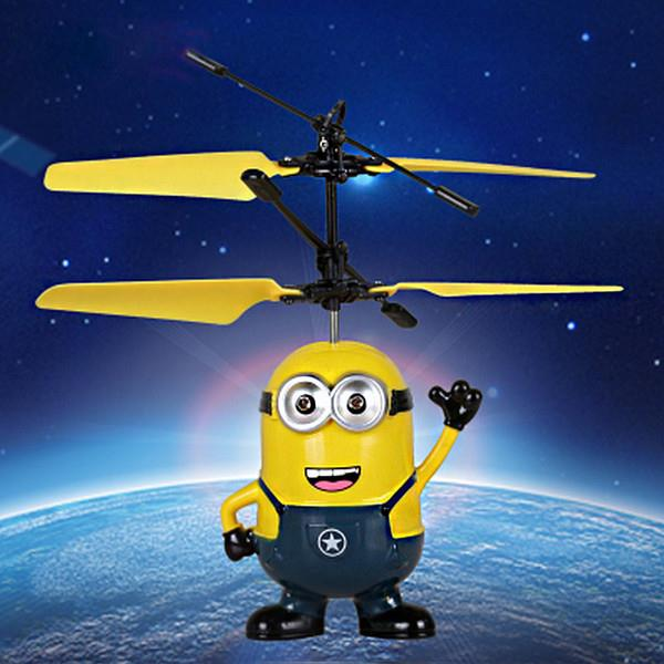 Despicable Me Minion Banana Mini Helicopter, Induction Vehicle, Flying