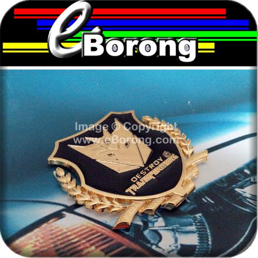 Destroy Transformers Gold Chrome Metal Chrome Car Badge Emblem Trunk S