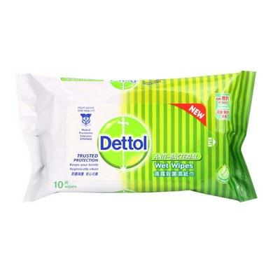 Dettol Anti-Bacterial Wet Wipes 3X10's X 10set