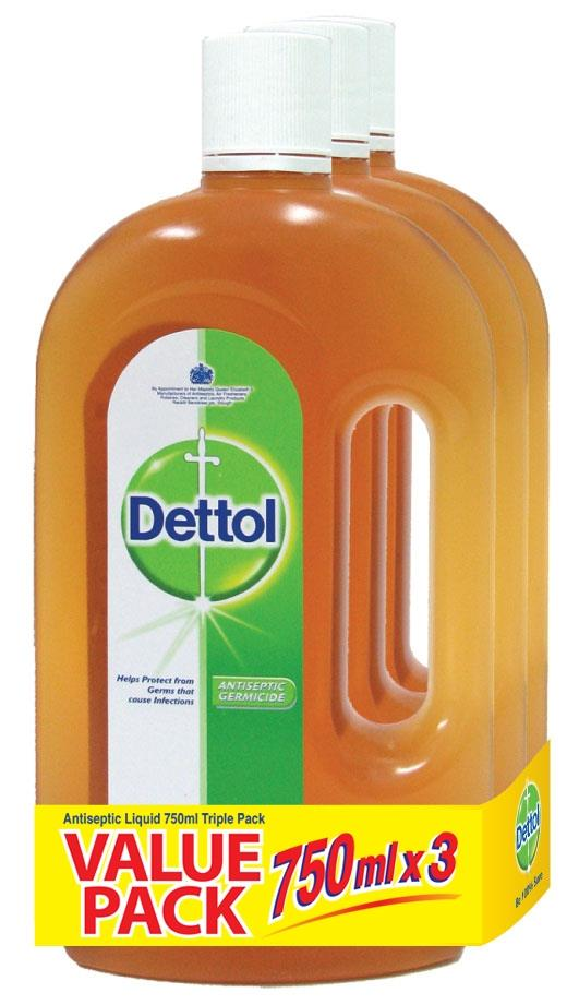Dettol Antiseptic Liquid 750ml X 3 bottles