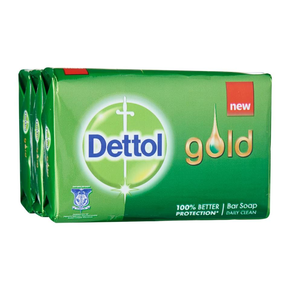 Dettol Gold Anti-Bacterial Daily Clean Bar Soap 9X105g