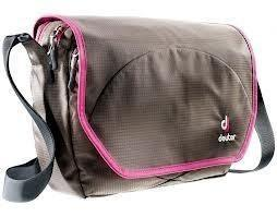 DEUTER CARRY OUT MESSENGER BAG - COFFEE MAGENTA