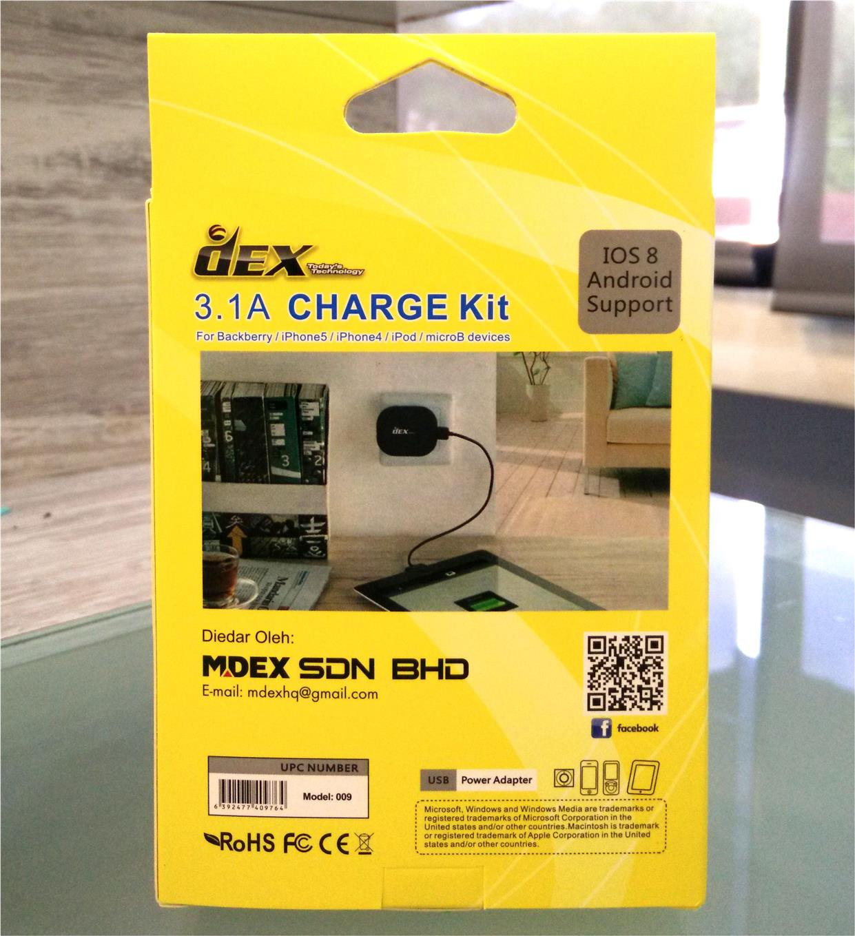 DEX Bullet Travel Charger with Enhanced Protection