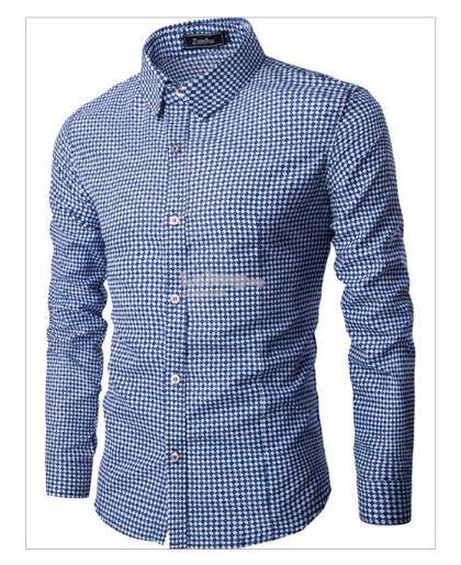 Diamond Lattice Pattern Shirt