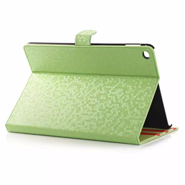 Diamond Pattern Magnetic Hasp Stand Leather Case for ipad Air2/ipad6