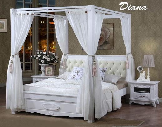 Diana Wooden Queen Poster Bed