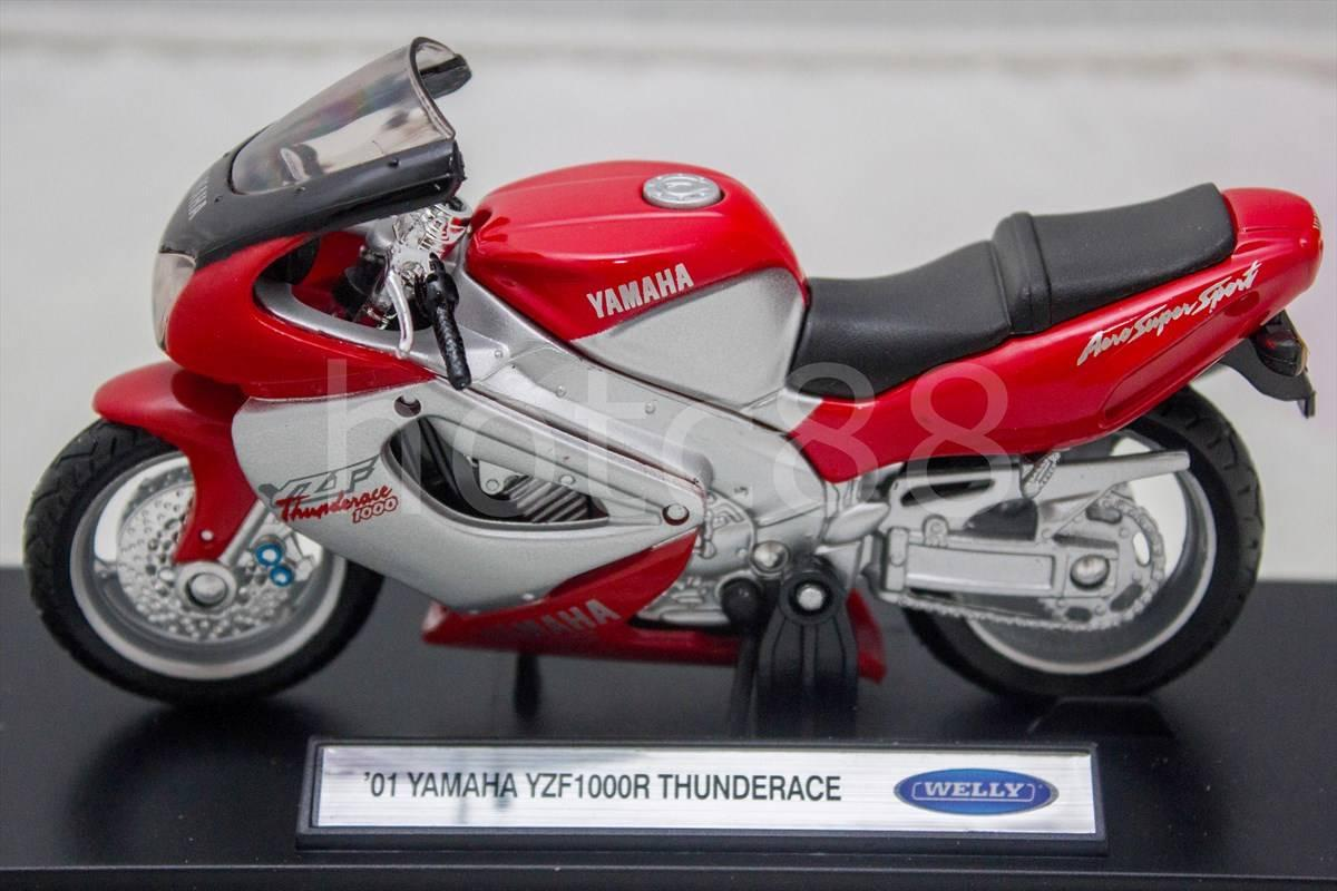 new diecast motorcycle welly red yamaha yzf1000r. Black Bedroom Furniture Sets. Home Design Ideas