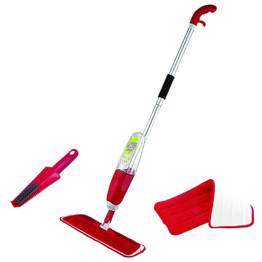 DIGILIFE EASY MOP Spray Mop with 2 Micro-fiber Mop Pads (Red)
