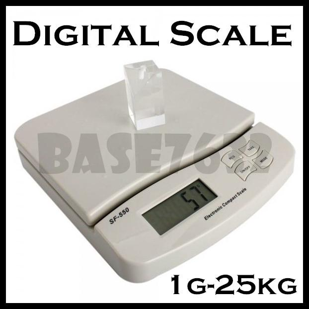 Digital  25kg Desk Table Top Weighing Scale Portable Kitchen Weigh
