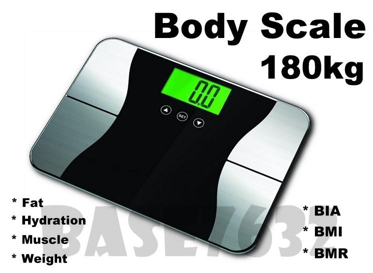 Digital Body  Fat Hydration Muscle Weight Scale 180kg BIA BMI BMR