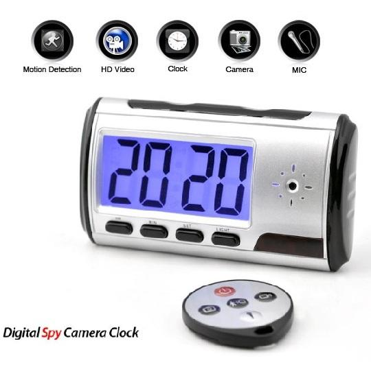 Digital Clock Hidden Camera Spy DVR Video Motion Detect Alarm 4G 8G