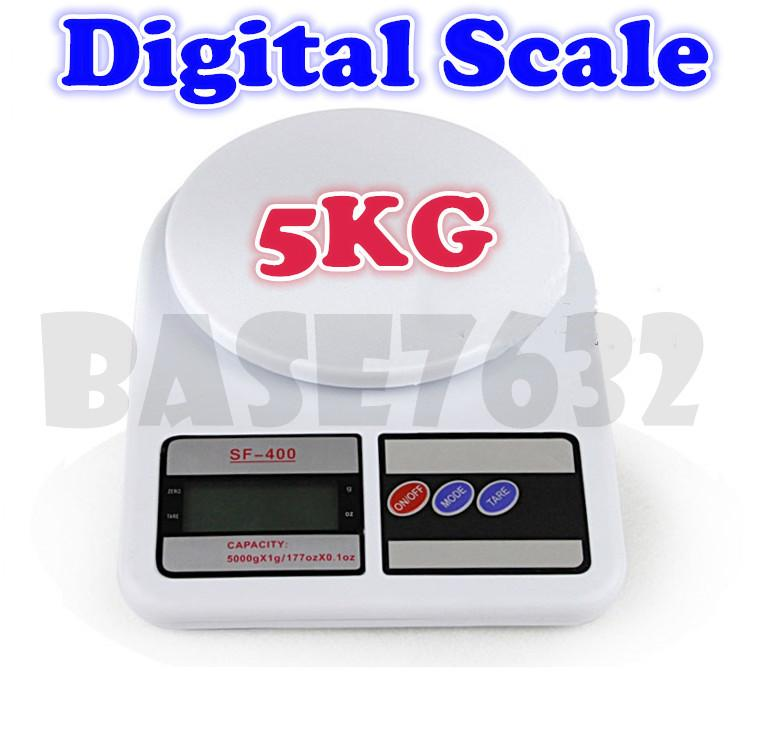 Digital  Electronic Portable Kitchen Weighing Scale 1g- 5kg Scale 5kg