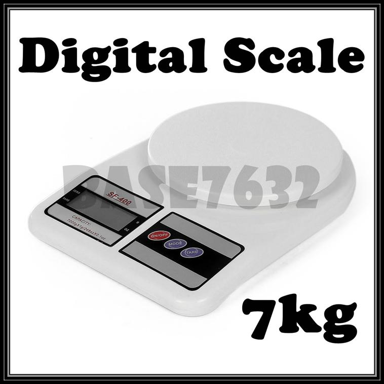 Digital Electronic  Portable Kitchen Weighing Scale 1g- 7kg Scale