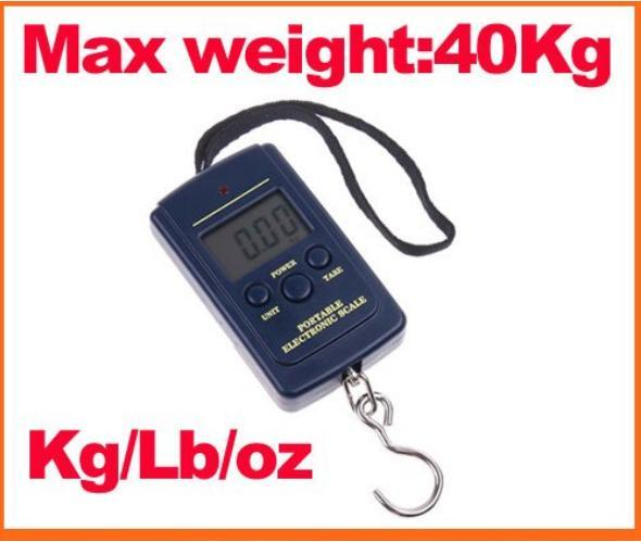 Digital Electronic Portable Luggage Fishing Weighing Scale 20g-40kg