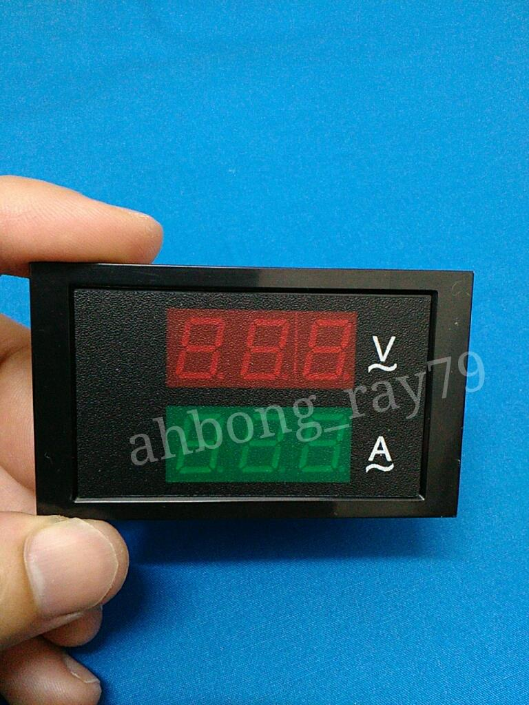 Digital LED AC Ammeter Voltmeter Amp Volt Ampere Current Voltage Meter