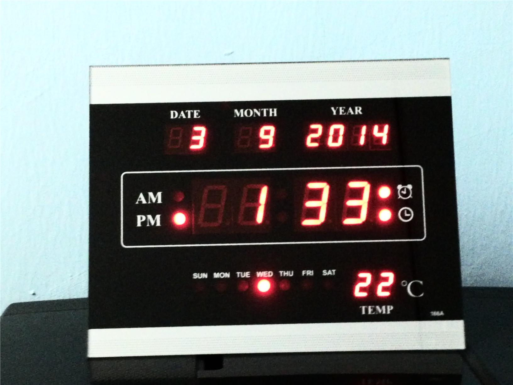 Led digital wall clock quotes Digital led wall clock