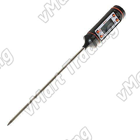 Digital Thermometer with Stainless Steel Probe [4 Functions]