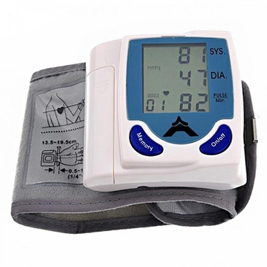 Digital Wrist Blood Pressure Monitor & Heart Beat Meter