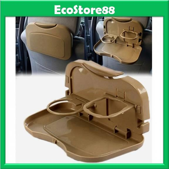 Dining Tray Multipurpose Car Portable Tray - Brown Colour
