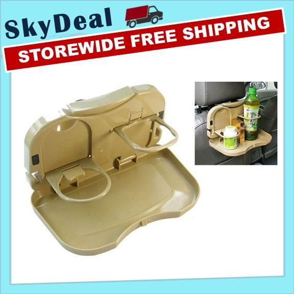 Dining Tray Multipurpose Portable Tray for Car (Brown Colour)