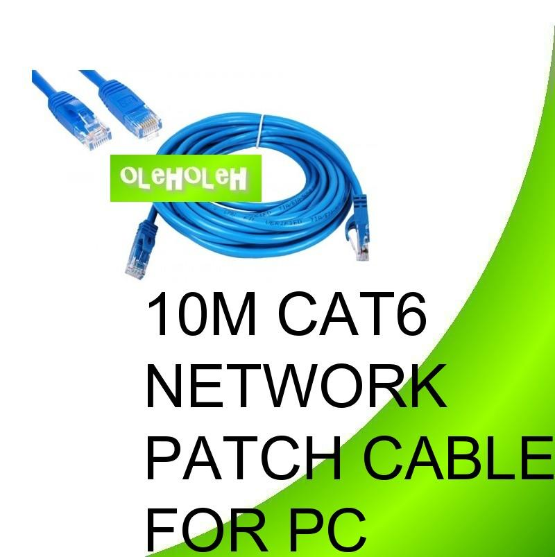 Dintek 10m Cat6 High Quality Network Patch Cable PC To Hub Gigabit