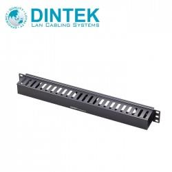 DINTEK 19' 1U Cable Management Panel + Front Wiring Duct, 2304-01007