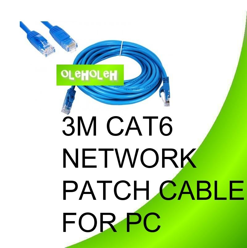 Dintek 3m Cat6 High Quality Network Patch Cable PC To Hub Gigabit