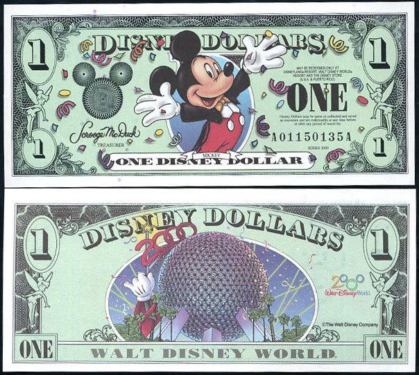 Disney Dollar 2000 banknote-Celebrating Mickey