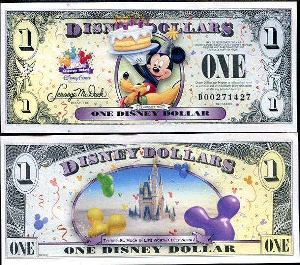 Disney Dollar 2009 unc- What will you celebrate