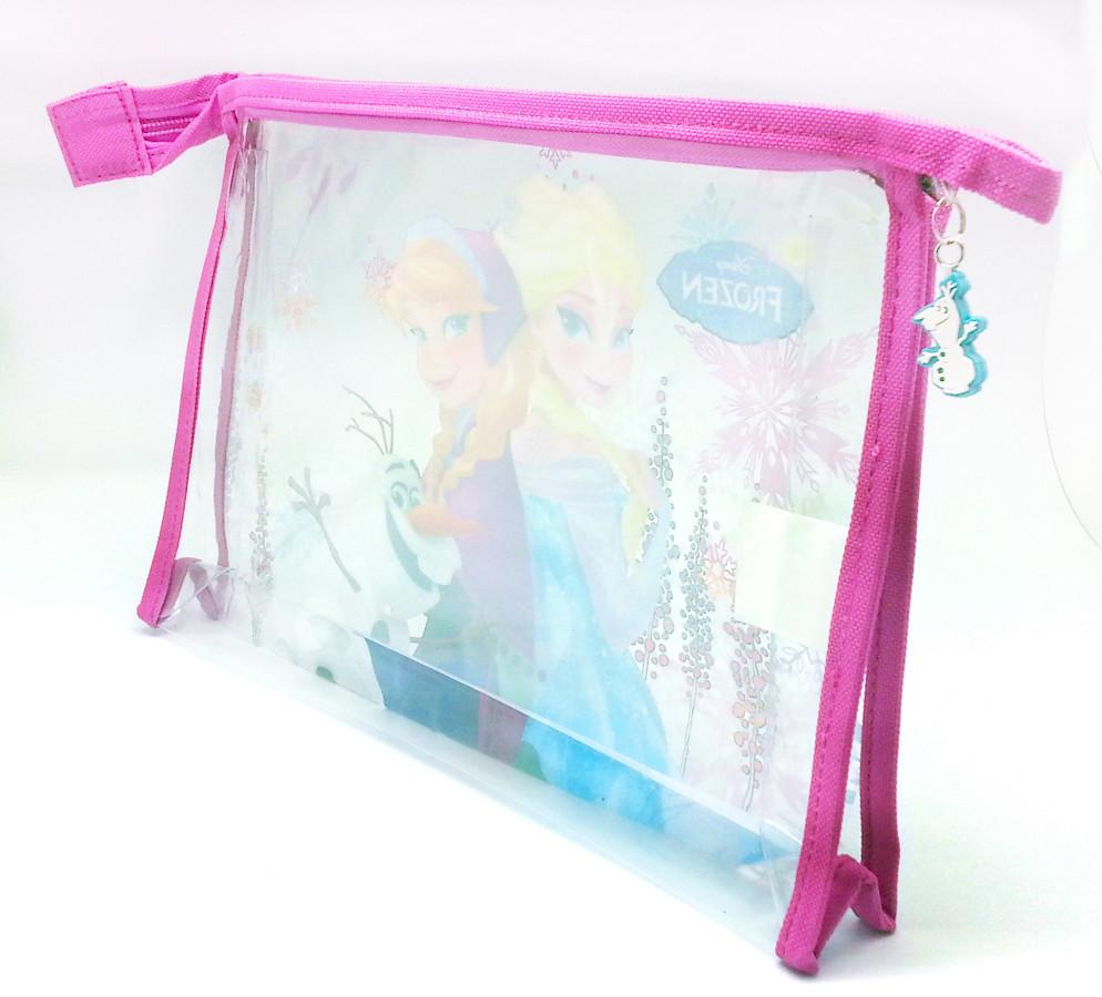 DISNEY FROZEN TRANSPARENT POUCH * Genuine Licensed