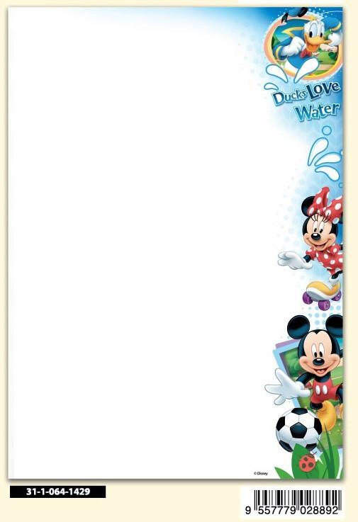DISNEY MICKEY MOUSE 140GSM LETTER SET-100'S - 100's Per Pack