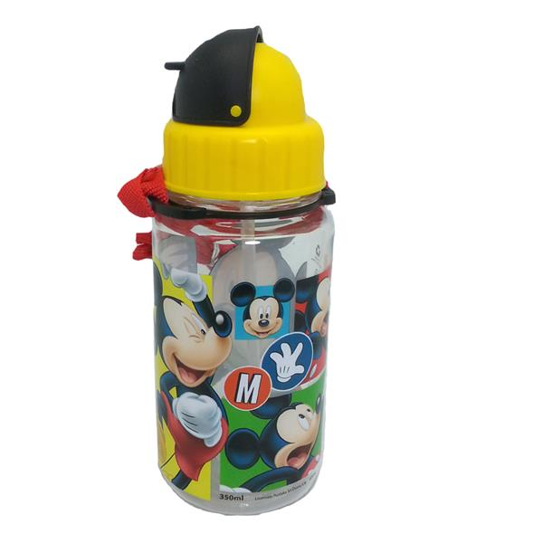 DISNEY MICKEY MOUSE HAPPY 350ML TRITAN BOTTLE WITH STRAW * BPA FREE