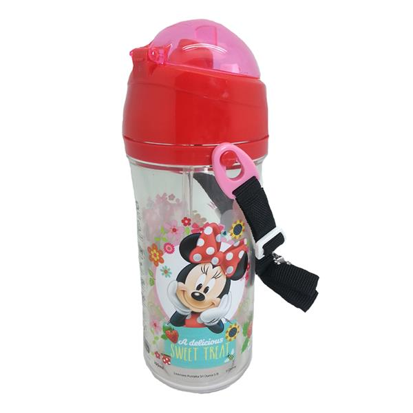 DISNEY MINNIE MOUSE STRAWBERRY JAM 600ML TRITAN BOTTLE WITH STRAW * BP