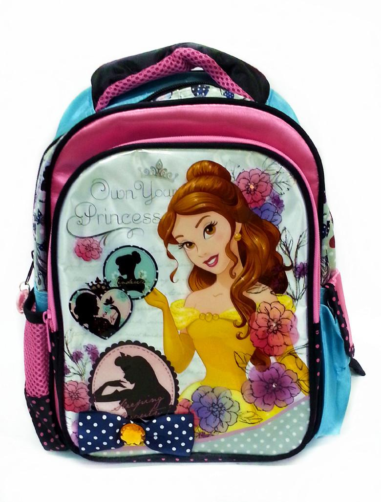 DISNEY PRINCESS BELLE 12inch KIDS BACKPACK WITH FLASHING LIGHT DESIGN