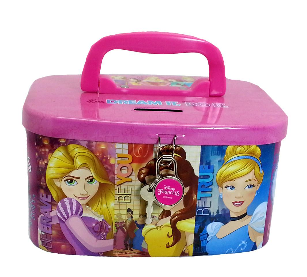 DISNEY PRINCESS BE BRAVE COIN BANK WITH LOCK*W19.6xH12.9xD11(CM)